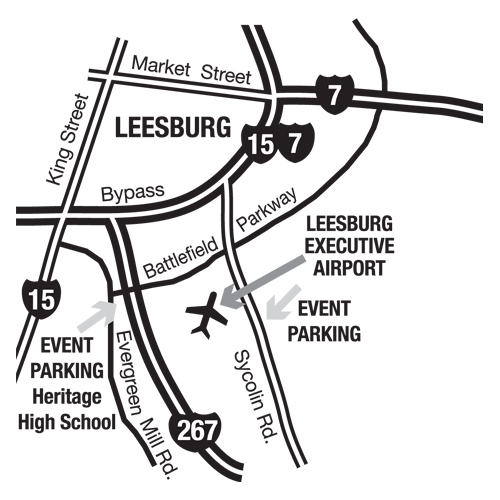 Airshow Parking Map